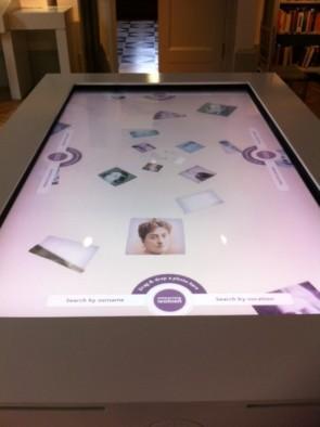 'Enterprising Women' interactive table. [Photo: Hayward]