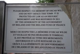 Respecter La Memoire D'Oscar Wilde © C Hayward